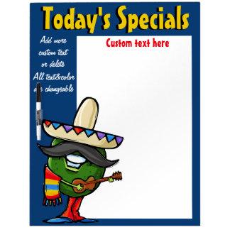 Daily Special Menu Memo Board Mexican Avocado blue Dry-Erase Whiteboard