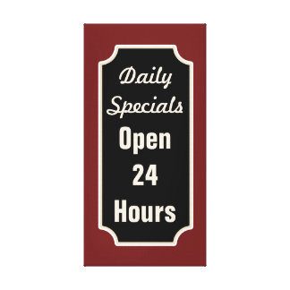 Daily Specials Diner Sign Canvas