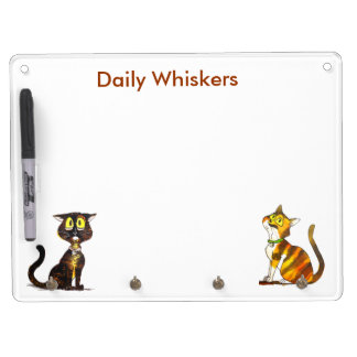 Daily Whiskers planner Dry Erase Board With Keychain Holder