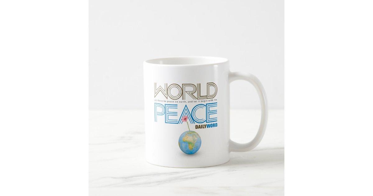 Daily Word World Peace Coffee Mug Zazzle Com