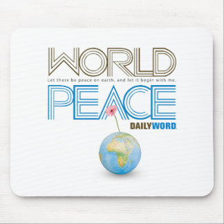 """DAILY WORD®  """"World Peace"""" Mouse Pad"""