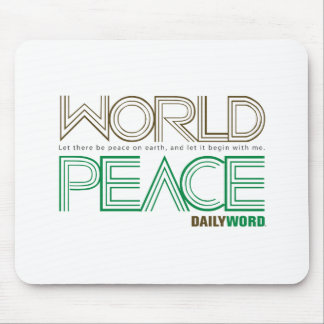 """DAILY WORD®  """"World Peace""""  Mousepad"""