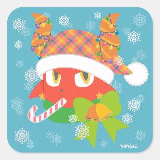 Daimon holiday square sticker