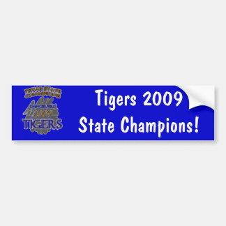 Daingerfield Tigers 2009 Texas Football Champions! Car Bumper Sticker