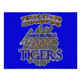 Daingerfield Tigers 2009 Texas Football Champions Invitations