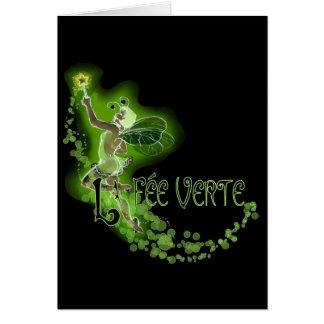 Dainty Absinthe La Fee Verte I Greeting Card