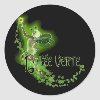 Dainty Absinthe La Fee Verte I Classic Round Sticker