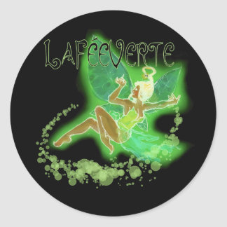 Dainty Absinthe La Fee Verte II Classic Round Sticker