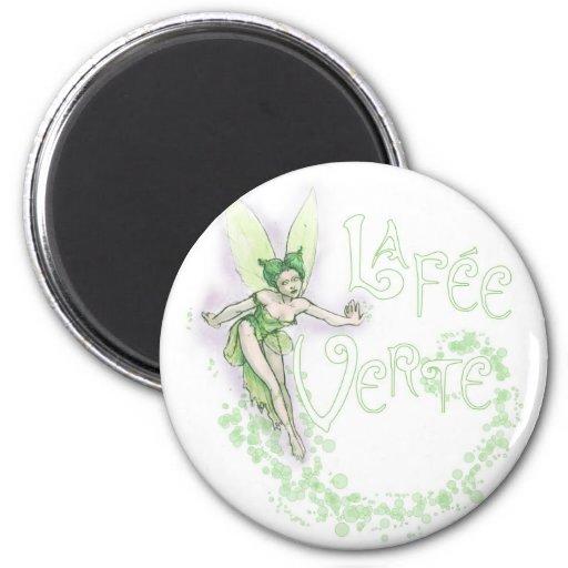 Dainty Absinthe La Fee Verte III 2 Inch Round Magnet