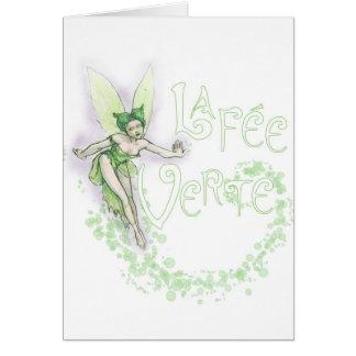Dainty Absinthe La Fee Verte III Greeting Card