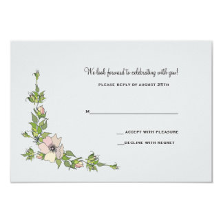 Dainty Anemones Response Card
