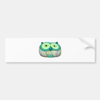 dainty aqua owl bumper sticker