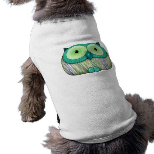 dainty aqua owl dog clothing