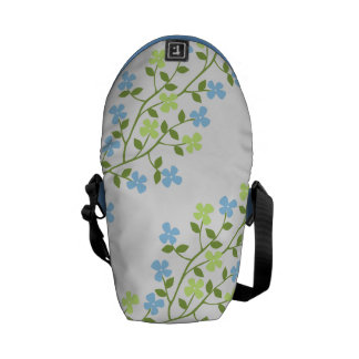 Dainty Blooms Messenger Bag