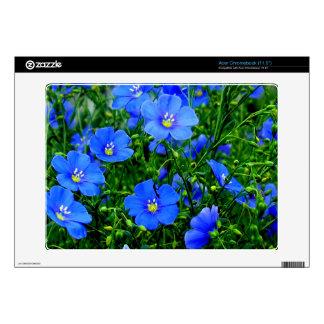 "Dainty Blue Flax Acer Chromebook Skin 11.6"""