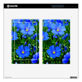 Dainty Blue Flax-Kindle Fire Skin Decals For Kindle Fire