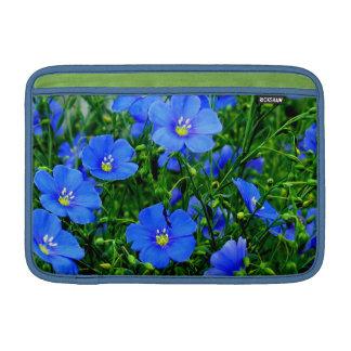 "Dainty Blue Flax Macbook Air Sleeve 11"""