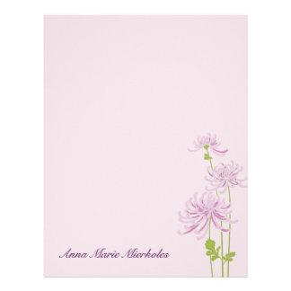Dainty Chrysantemum Floral Blossom Letterhead