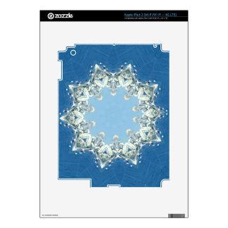 dainty Circular Shades Of Blue Decals For iPad 3