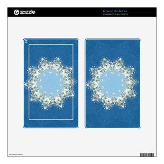 dainty Circular Shades Of Blue Kindle Fire Skins