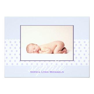Dainty Daisy Band Photo Birth Annoucement Card