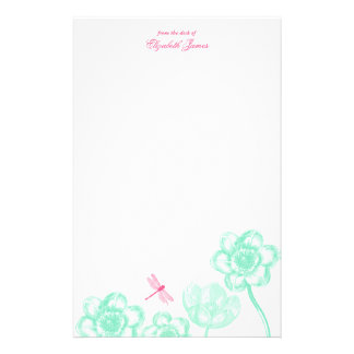 Dainty Dragonfly Stationery in blue
