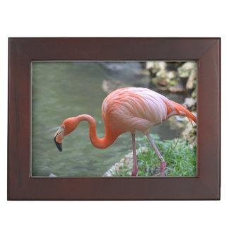 Dainty Flamingo Keepsake Boxes