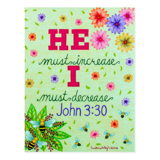 Dainty Floral Typography Bible Verse On Humility Postcard