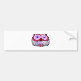 dainty fushcia owl bumper sticker