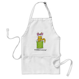 Dainty Garbage Kitty Adult Apron