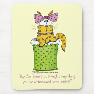 Dainty Garbage Kitty Mouse Pad