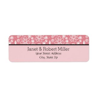 Dainty Girly Pink Floral Pattern Border