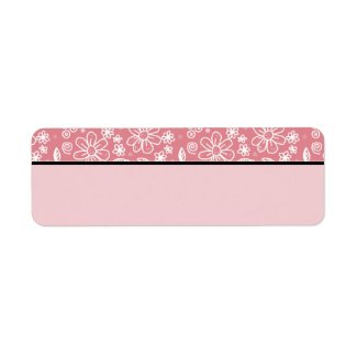 Dainty Girly Pink Floral Pattern Border Blank