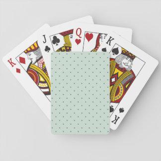 Dainty Green Polka Dots Pattern on a Lighter Green Card Deck