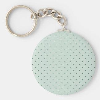Dainty Green Polka Dots Pattern on a Lighter Green Keychain