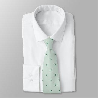 Dainty Green Polka Dots Pattern on a Lighter Green Neck Tie