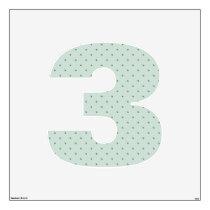 Dainty Green Polka Dots Pattern on a Lighter Green Wall Sticker