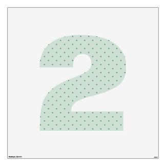 Dainty Green Polka Dots Pattern on a Lighter Green Wall Sticker