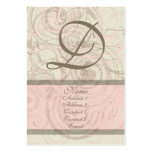 Dainty in Pink Chubby Business Card