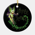 Dainty La Fee Verte III Double-Sided Ceramic Round Christmas Ornament