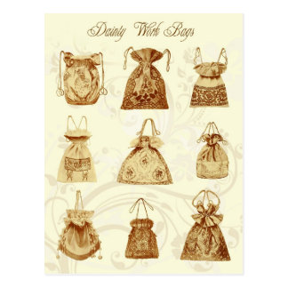 Dainty Ladies Work Bags Postcard