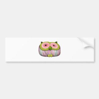 dainty mustard owl bumper stickers