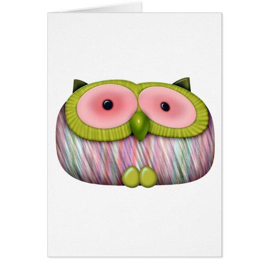 dainty mustard owl card