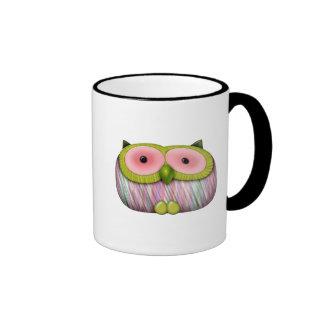 dainty mustard owl coffee mug
