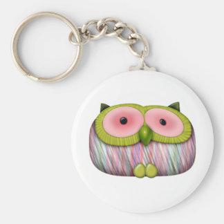 dainty mustard owl keychain