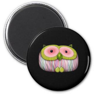 dainty mustard owl magnet