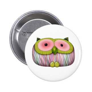 dainty mustard owl pin