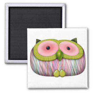 dainty mustard owl refrigerator magnets