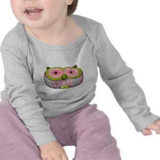 dainty mustard owl tee shirt