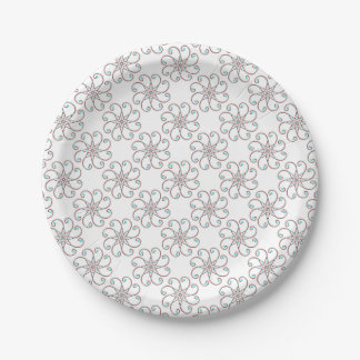 Dainty Octo-Fleur Paper Plate 7 Inch Paper Plate